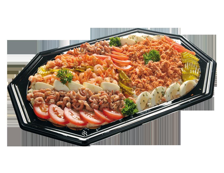 Zalm – Hollandse garnalen Saladeschotel